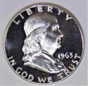 1963 Proof Franklin Half Dollar; Gem Proof