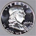 1960 Proof Franklin Half Dollar; Choice Proof