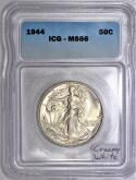 1944 Walking Liberty Half Dollar ICG MS-66; Creamy White