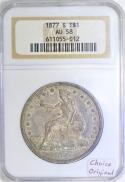 1877-S Trade Dollar NGC AU-58; Choice Original