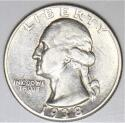 1938 Washington Quarter; Nice AU