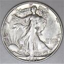 1941-S Walking Liberty Half Dollar; Choice AU