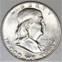 1953-D Franklin Half Dollar; Choice BU
