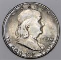1950 Franklin Half Dollar; F.B.L., Choice Unc.; Nice Original Toning