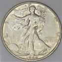 1946-S Walking Liberty Half Dollar; AU