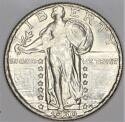 1930 Standing Liberty Quarter; Lustrous, Attractive Choice AU-BU