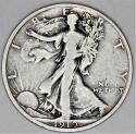 1919-S Walking Liberty Half Dollar; Choice Original F-VF