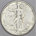 1934-D Walking Liberty Half Dollar; Nice White Choice AU+